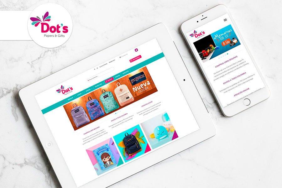 desarrollo tienda onlinedots