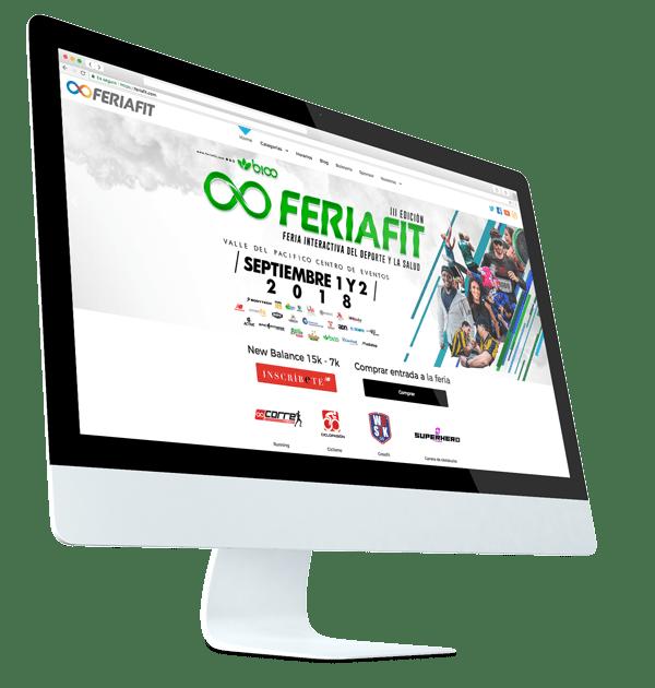 diseño de sitio web feriafit