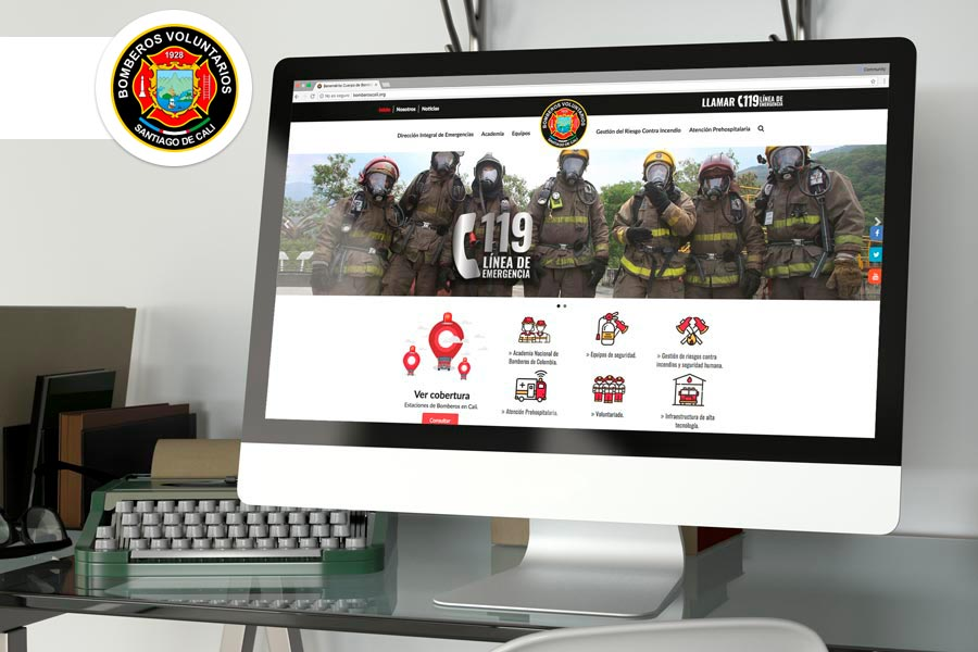 paginas web en cali para bomberos